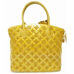 LOUIS VUITTON Lockit Lambskin Monogram Satchel Bag